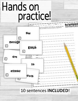 Ser vs Estar Scrambled Sentences Activity