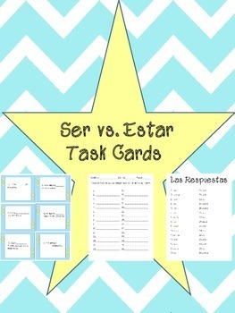 Ser vs. Estar Spanish Task Cards