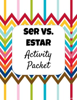 Ser vs. Estar Stations Worksheets