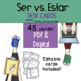 Ser vs Estar TASK CARDS for practice and review!