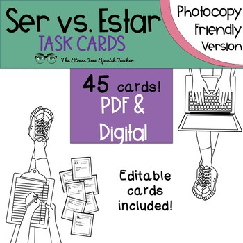 Ser Vs Estar Task Cards For Practice And Review Photocopy Friendly