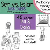 Ser vs Estar TASK CARDS for practice and review!  Photocopy friendly version