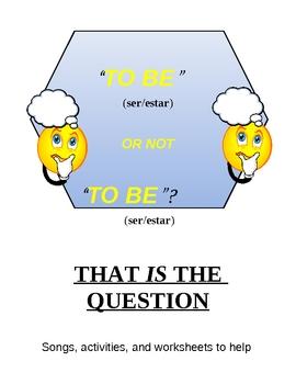 Ser vs. Estar Worksheets and Activities