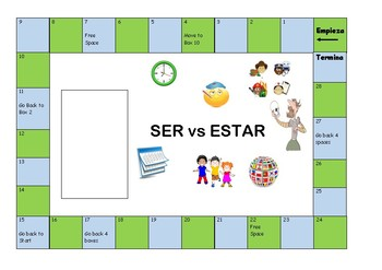 Ser vs Estar board Game