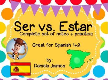 Ser vs. Estar-complete set of notes+practice