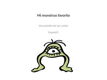 Ser vs. estar project for Spanish I students