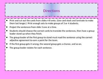Ser with Descriptive Adjectives