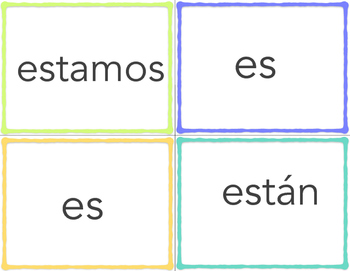 Ser y Estar Flashcards 2
