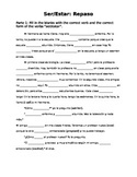 Ser/Estar Cloze and Writing Activity