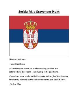 Serbia Map Scavenger Hunt