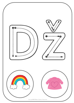 Serbian Latin Alphabet Letter Formation Cards