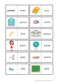 Serbian School Vocabulary ( Latin Alphabet )