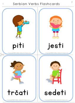 Serbian Verbs in Present Tense Revision  - Latin Alphabet