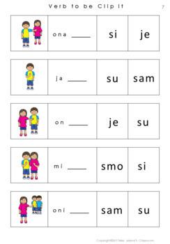 Serbian verb to be - Latin Alphabet