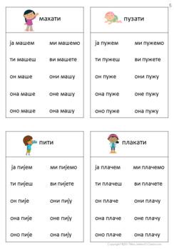 Serbian verbs in Present Tense Set III - Srpski glagoli u sadašnjem vremenu