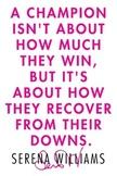 Serena Williams Inspiration poster PE
