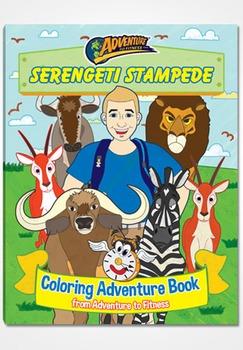 Serengeti Stampede Coloring Adventure Book