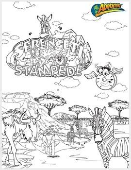 Serengeti Stampede Coloring Page