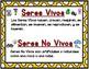 Seres Vivos o No Vivos Center:  Spanish Living or Non Living Center