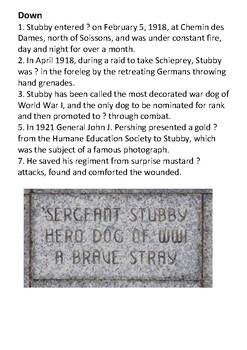 Sergeant Stubby Crossword