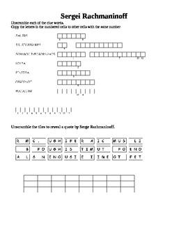 Sergei Rachmaninoff puzzle