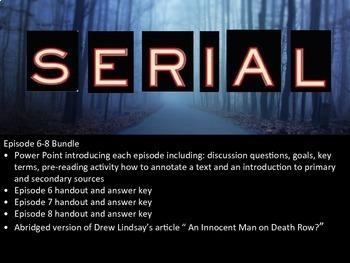 Serial Podcast Episodes 6-8 Bundle