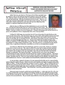 Serial Killer Profile #10 : Arthur Shawcross (forensics / psychology / crime)