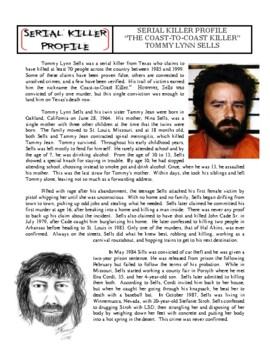 Serial Killer Profile #8 : Tommy Lynn Sells (forensic / pyschology)