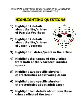 Serial Killer Profile : Jason Voorhees (Friday 13th / article / question /  key)