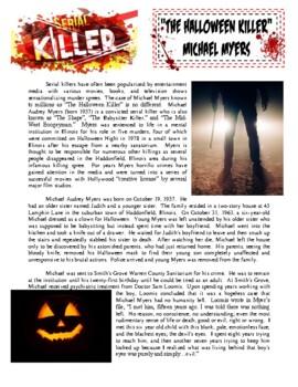 Serial Killers Worksheets & Teaching Resources | TpT