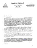 Serial Killer Research Project- Parent Letter Home
