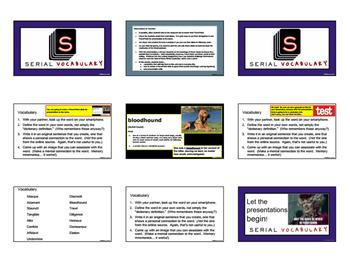 Serial Podcast - Season One: Adnan Syed - Vocabulary Anticipatory Set Assignment
