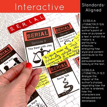 Serial Podcast Season 1 Unit Plan, Activities, and Literary Nonfiction Study