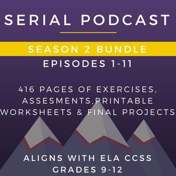 Serial Podcast Season 2 Bundle, Episodes 1-11 | Lesson Plans & Worksheets