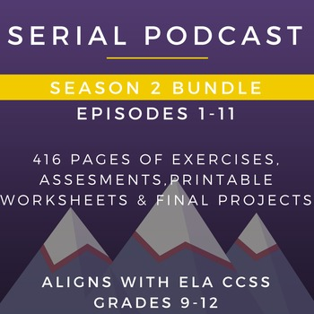 Serial Podcast Season 2 Bundle, Episodes 1-11 | Lesson Plans & Worksheets
