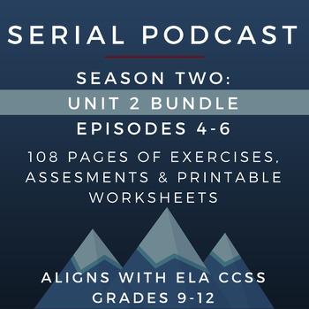 Serial Podcast Season 2 Unit 2 Bundle Episodes 4 6 Lesson Plans