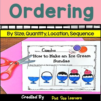 Seriation Center Activities and Worksheets