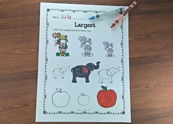 Ordering Objects by Size, Position, and Quantity Center and Worksheets