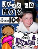 Jeux francais / Jeux de verbes / Jeu de français / French Word search / Words