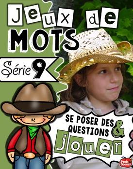Série 9: Jeux de mots / Centres de littératie en français