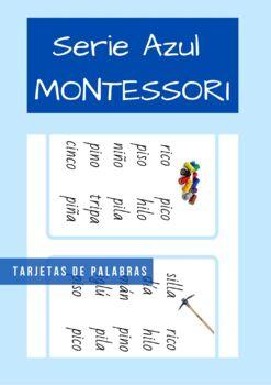 Serie Azul en Español ( Blue Series). Tarjetas de lectura