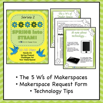 Series 2: EVEN MORE Spring into STEAM! 10 STEM challenges for your makerspace