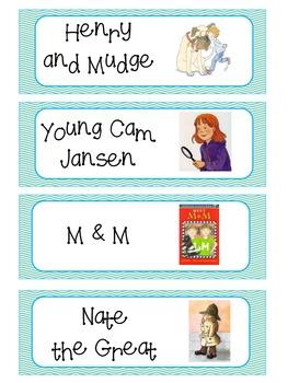 Series Book Basket Labels