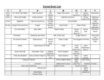 Series Book List