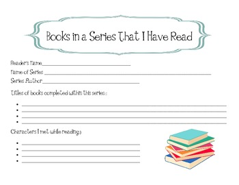 Series Book Reflection Questionnaire