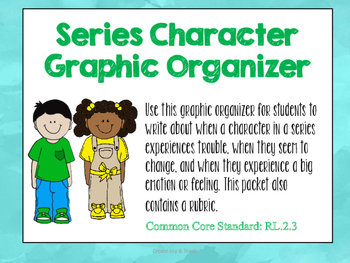 Series Character Graphic Organizer