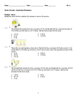 Series Circuits - Equivalent Resistance Practice