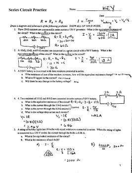 Series Circuit Practice Problems