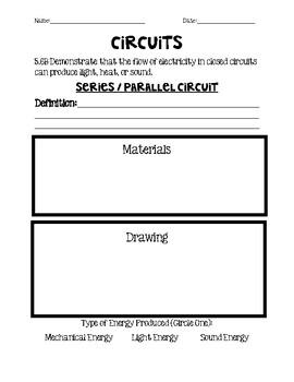 Series/Parallel Circuit Worksheet