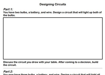 Series & Parallel Circuits Worksheets